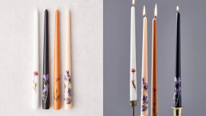 floral tapered candles