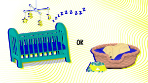 Baby crib or puppy sleeping_when two becomes three or four article