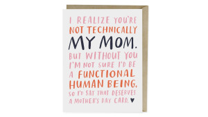 Not Technically My Mom Mother's Day Card