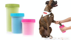container to easily clean muddy and sandy pet paws