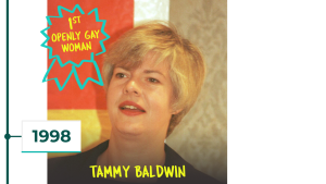 1998: Tammy Baldwin is first openly gay woman in Congress
