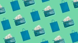 Shopping bag and wallet