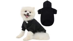 black hoodie sweatshirt for dogs