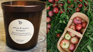 apple and maple bourbon candle