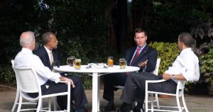 Meeting with President Obama, VP Joe Biden, Harvard Professor Henry Louis Gates Jr. and the arresting officer