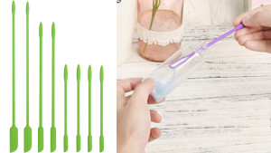 mini spatulas to fit inside small jars and makeup bottles