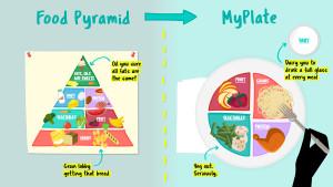 The Food Pyramid versus MyPlate