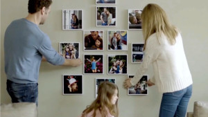 square framed photos for an easily made gallery wall