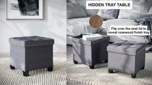 storage ottoman with a lid that can double as a tray