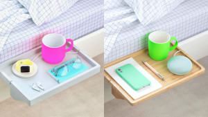 bedside floating shelf