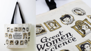 women in science tote bag