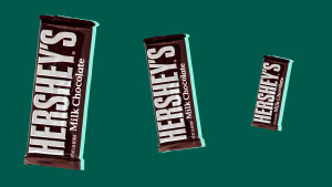 Candy bars shrinking in size