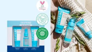 korean skincare set with basics like gel cleanser and moisturizer