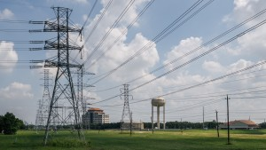 Power-lines are shown on June 15, 2021 in Houston, Texas.