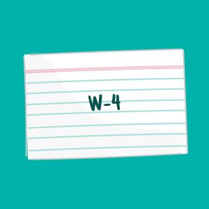 W-4 FSL card