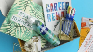 career-focused subscription box with monthly shipments to decorate your home office and provide career advice