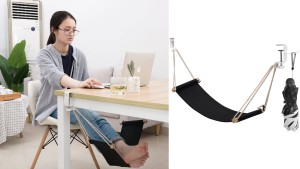 foot hammock for underneath your desk so you can raise your feet