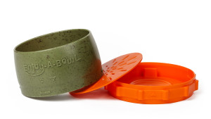 three-part dog bowl that helps with feeding time