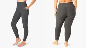 ankle-length leggings that don't attract pet hair