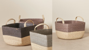 storage baskets for bedroom clutter