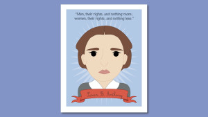 print of Susan B. Anthony