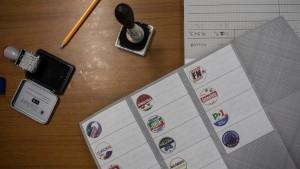 EU Parliamentary Elections Ballot
