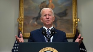 US President Joe Biden speaks about the ongoing evacuation of Afghanistan