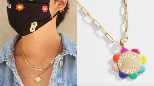 flower vote necklace