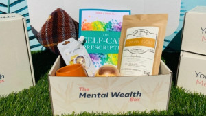 mental health subscription box to provide resources for those suffering from PTSD, anxiety, or depression