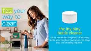 Water bottle tablet