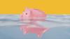 drowning piggy bank