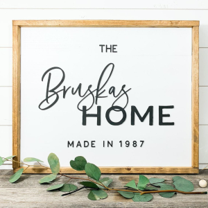 Family home sign