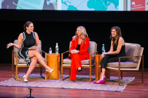Ashley Graham, Danielle Weisberg and Carly Zakin at the How to Skimm Your Life Night Out in New York