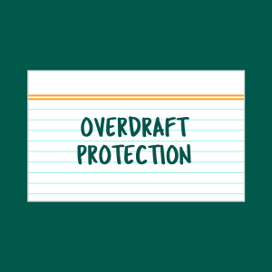 Overdraft protection index card