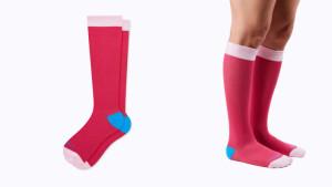 Knee-high compression socks