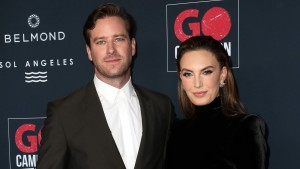 Armie Hammer and Elizabeth Chambers attend the Go Campaign's 13th Annual Go Gala at NeueHouse Hollywood on November 16, 2019 in Los Angeles, California.