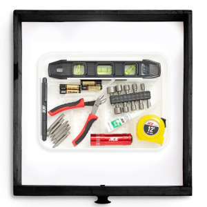 utility organizer with customizable sections