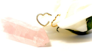 heart shaped hoop earrings