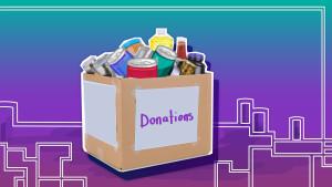 Donation Box Illustration