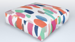 colorful floor pillow