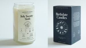 An all-natural candle inspired by the day they were born...