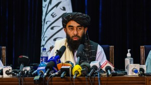 Zabihullah Mujahid, the Taliban spokesman for nearly 2 decades who worked in the shadows, makes his first-ever public appearance to address concerns about the Taliban' reputation