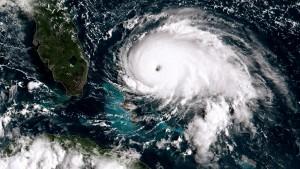 Hurricane Dorian tracking towards the Florida coast taken on September 1, 2019 in the Atlantic Ocean.