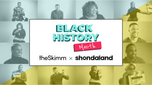 theSkimm x Shondaland Black History Month Logo