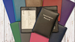 Leather personalized vaccine holder