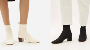 everlane black sock boots