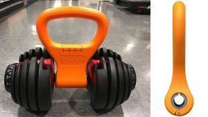 grip that attaches onto dumbbells to make them like kettlebells