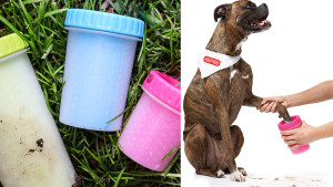 muddy paw cleaner for your pet's dirty feet
