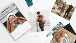 customized photo desk calendar