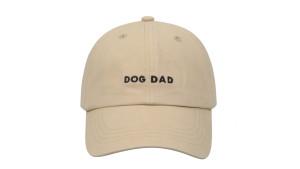 baseball cap with 'dog dad' saying